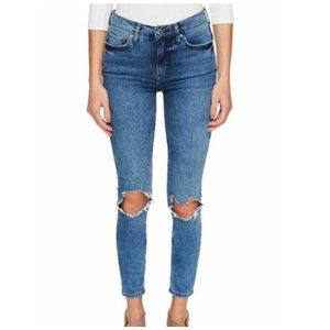 Free People 28 High Rise Skinny Jeans 3Y89